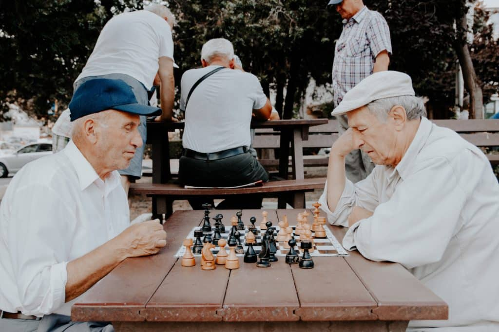 A group of elderly people with reverse mortgages
