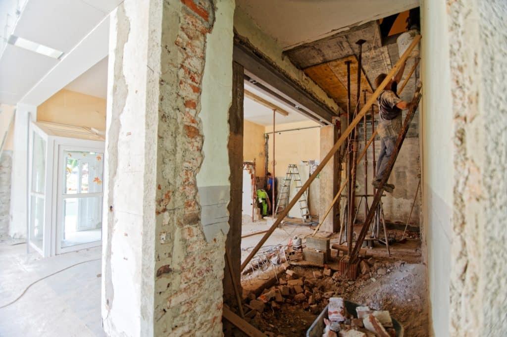 A VA Home under renovation
